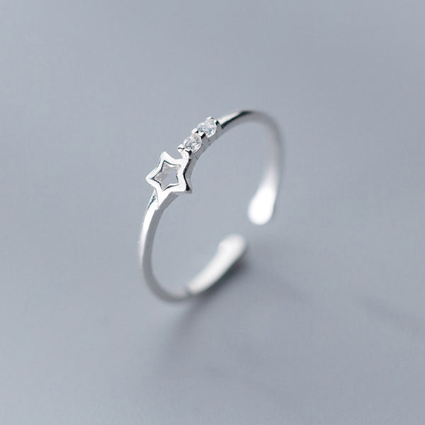 Starlight Sterling Silver Minimal Ring