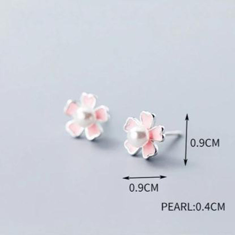 Classy Floral Sterling Silver Minimal Studs-Silver Earrings-Blinglane