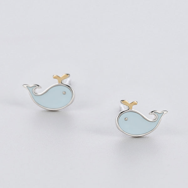 My Little Dolphin Minimal Sterling Silver Studs