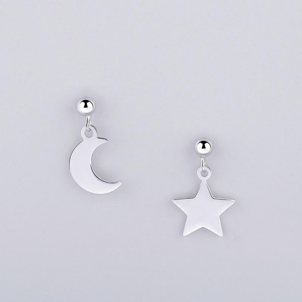 Sheen Galaxy Sterling Silver Minimal Studs