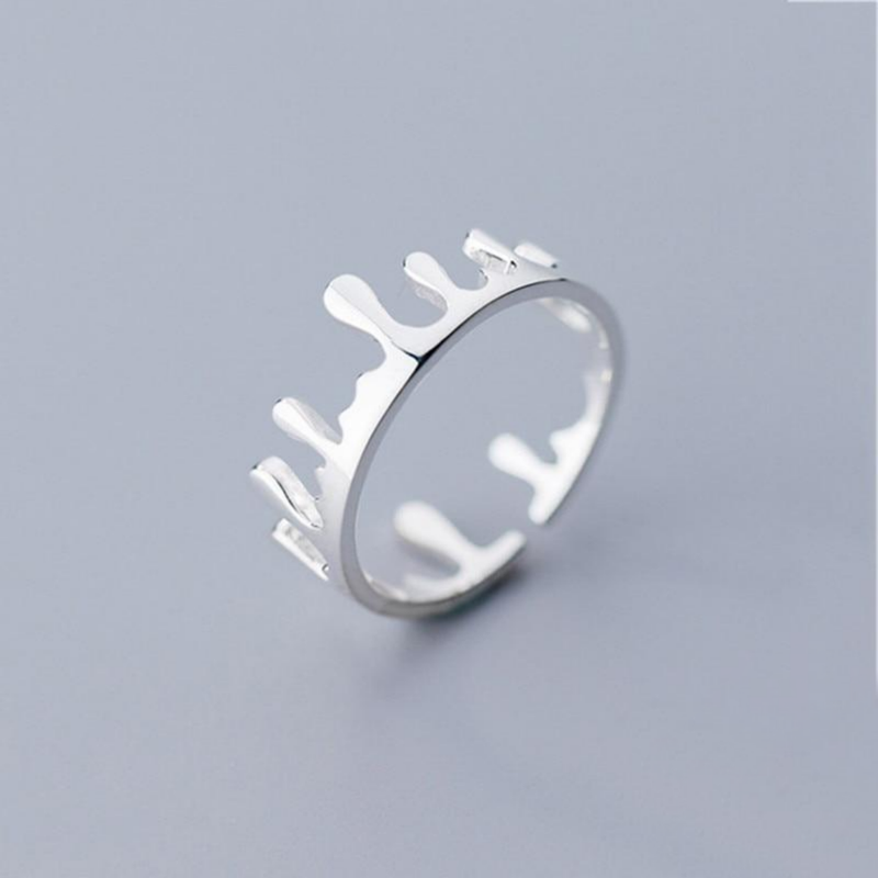 Potion Drops Sterling Silver Minimal Ring-Silver Ring-Blinglane