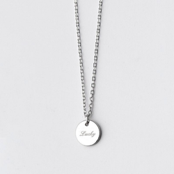 Lustrous Lucky Charm Sterling Silver Minimal Necklace-Silver Necklace-Blinglane