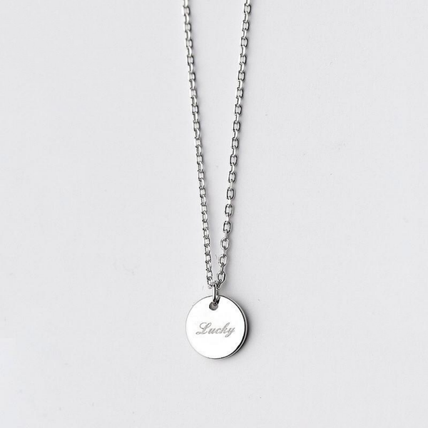 Lustrous Lucky Charm Sterling Silver Minimal Necklace