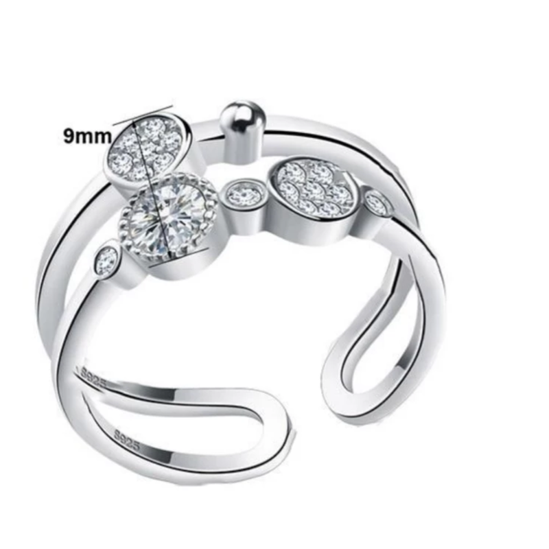 Gleaming Gaze Sterling Silver Ring