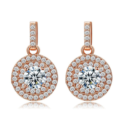 Charming Solitaire Drop Studs