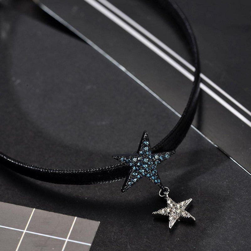 Radiant Star Charms Choker-Blinglane