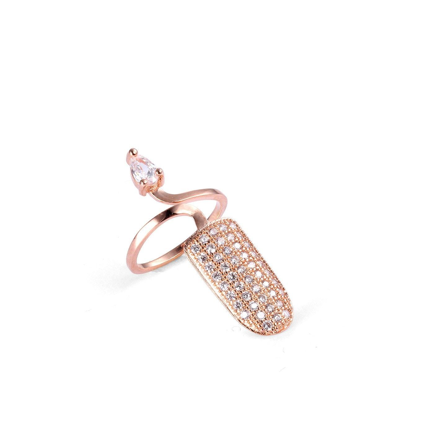 Ravishing Knuckle Nail Combo Ring-Blinglane