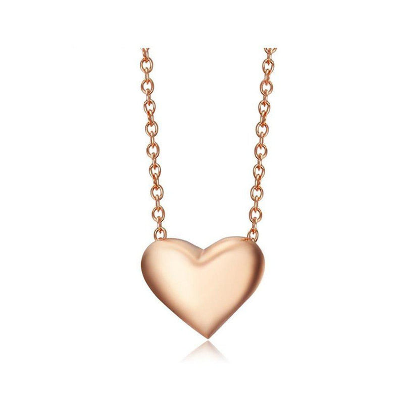 Refined Heart Charm Necklace-Blinglane