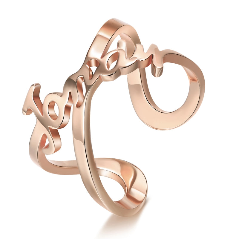 Personalize Your Name Infinity Fashion Ring