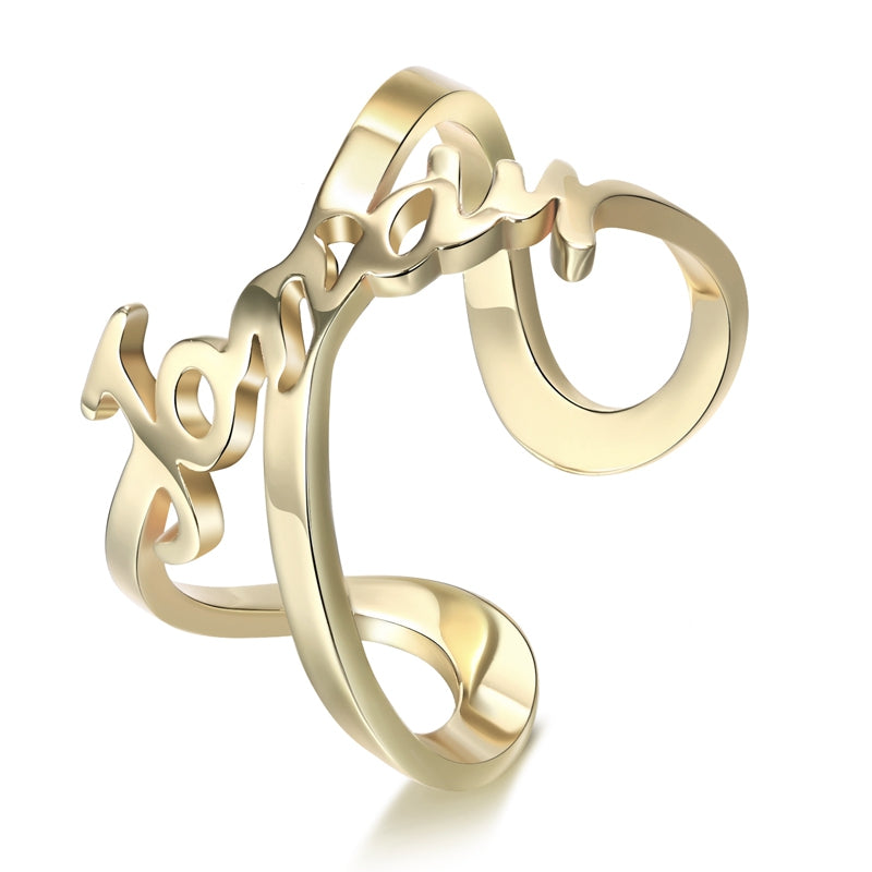 Personalize Your Name Infinity  Ring