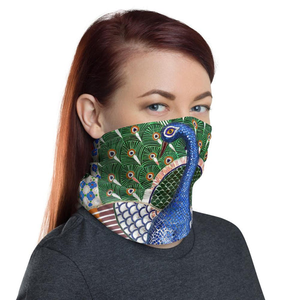 Royale Peacock Neck Gaiter-Neck Gaiters-Blinglane