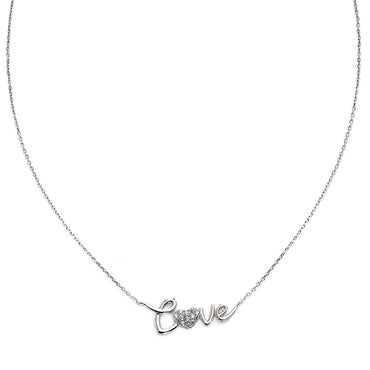 Say It With Love Silver Plated Neckpiece-Blinglane