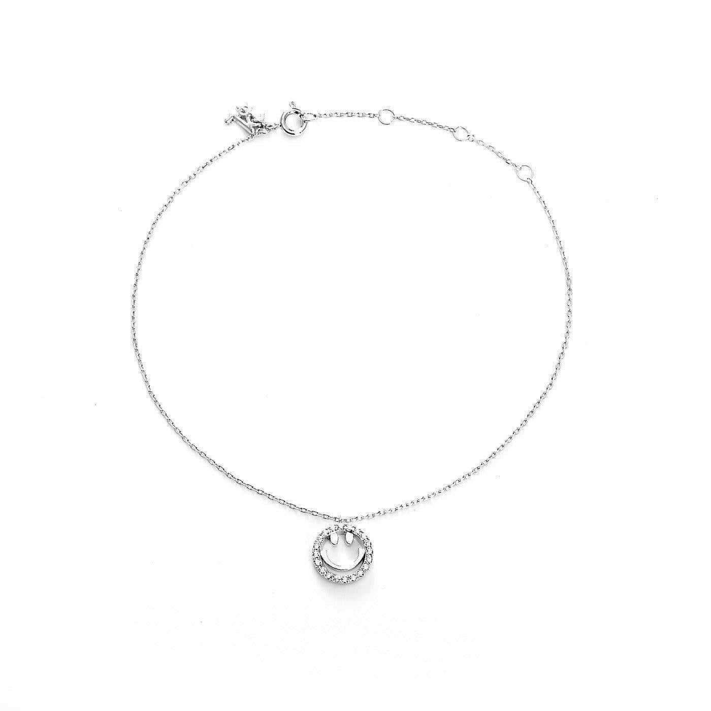 Silver Smiley Fashion Anklet-Blinglane