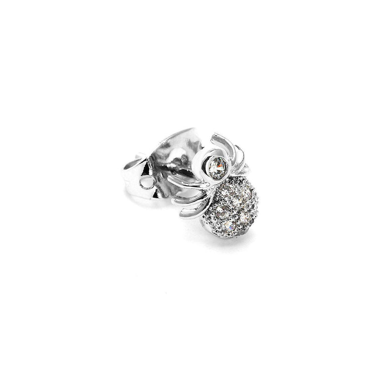 Silver Spidey Charm Nose Pin-Blinglane