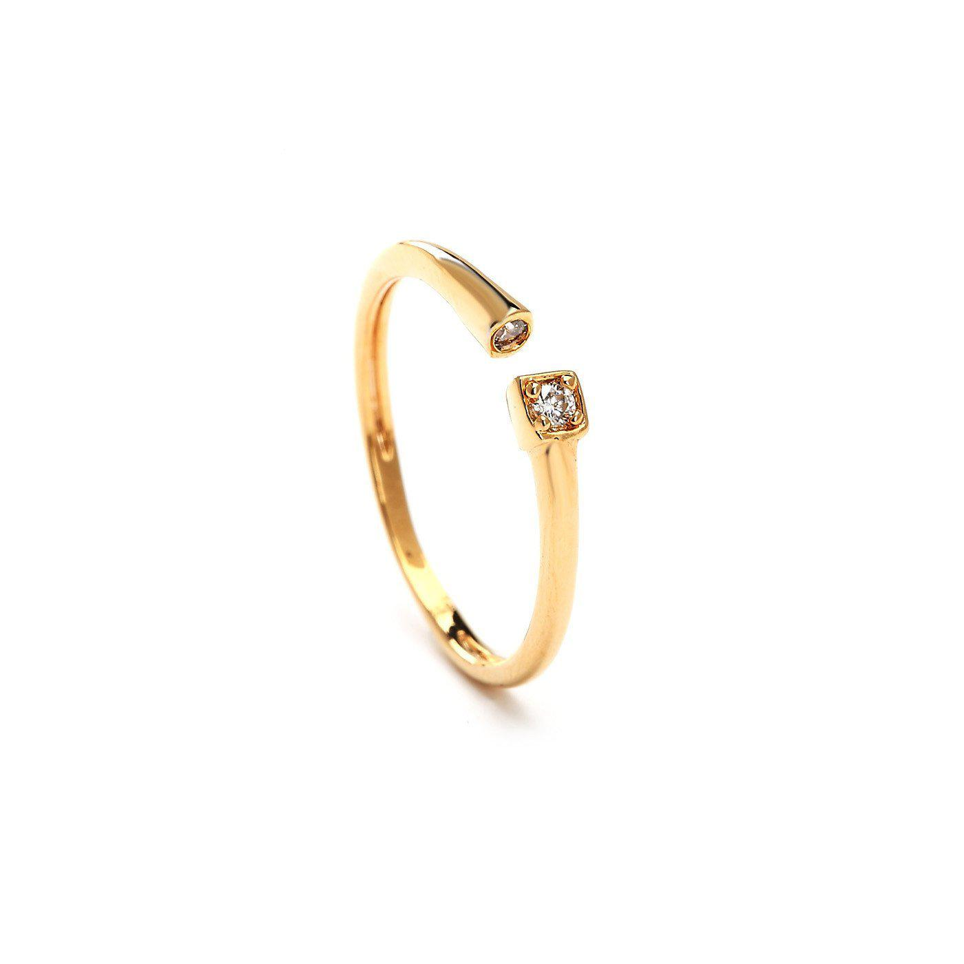 Sleek Look Studded Gold Plated Rings-Blinglane