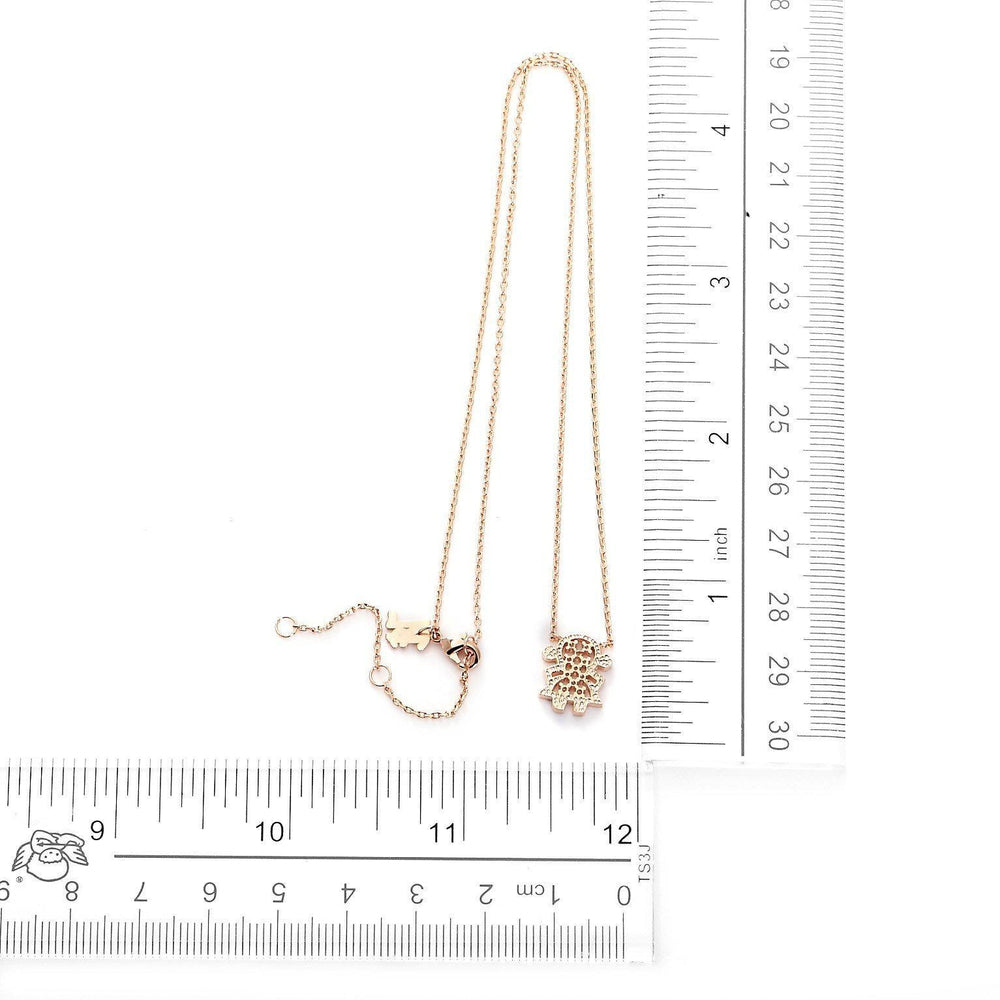 Sofia Doll Rose Gold Plated Necklace-Blinglane