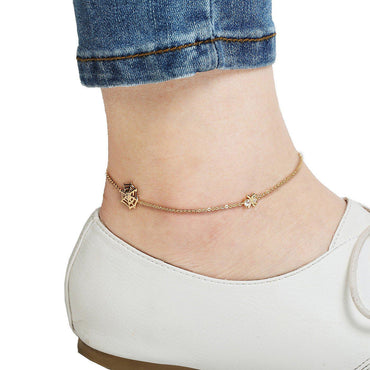 Spidey Style Gold Plated Anklet-Blinglane