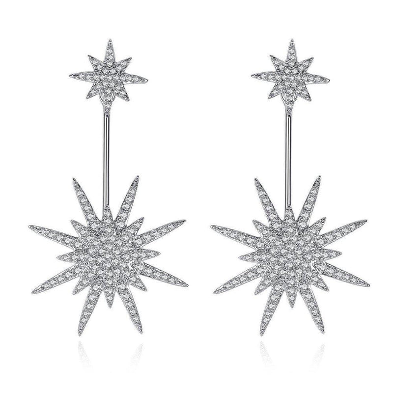 Starburst Charms Drop Dangler Studs-Blinglane