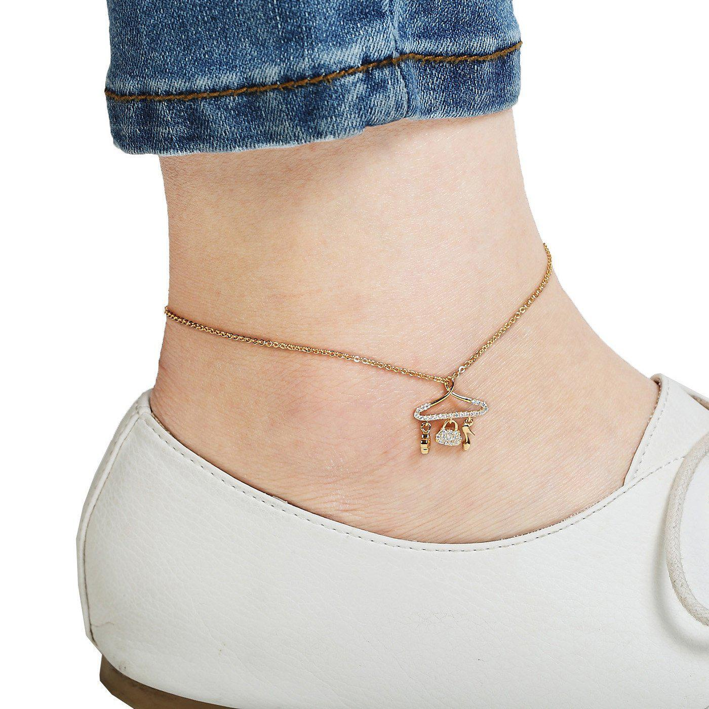 Stylista Gold Plated Anklets-Blinglane