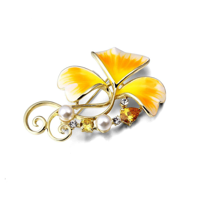 Sunrise Floral Brooch-Blinglane