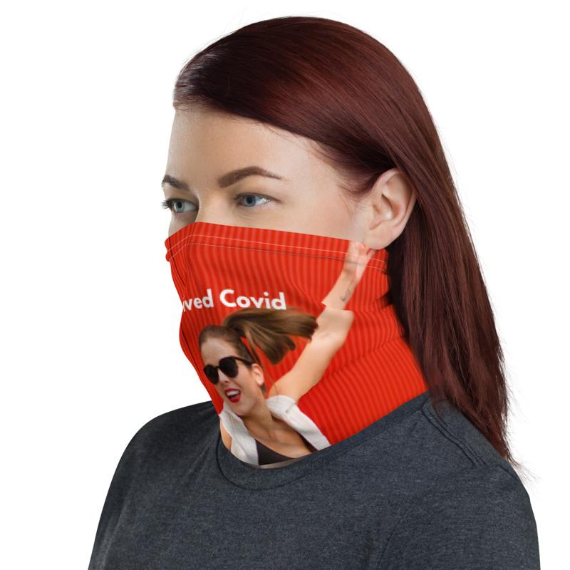 Survived Covid Vibrant Neck Gaiter-Neck Gaiters-Blinglane