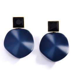 Swank Blue Bold Earrings-Blinglane