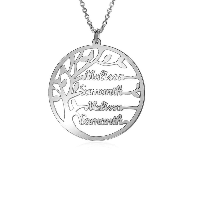 Personalize Your Tree of Life Sterling Silver Necklace