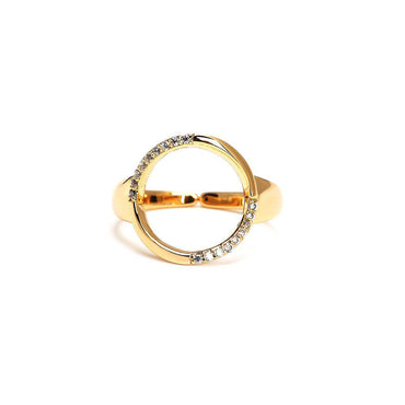 Trio Studded Gold Plated Rings-Blinglane