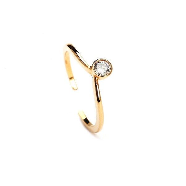 Twinkle On Gold Plated Rings-Blinglane