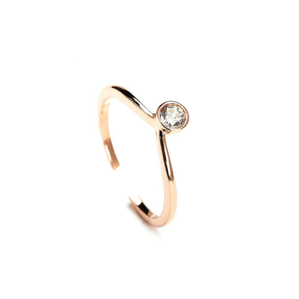Twinkle On Rose Gold Plated Rings-Blinglane