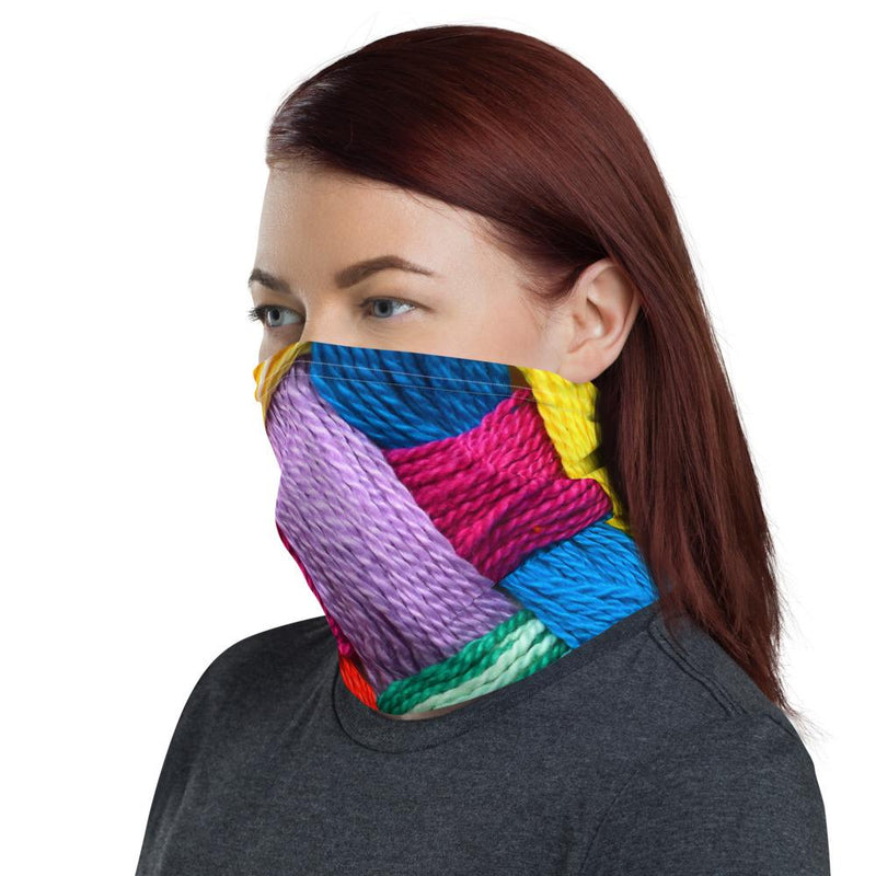Vibrant Knots Neck Gaiter-Neck Gaiters-Blinglane