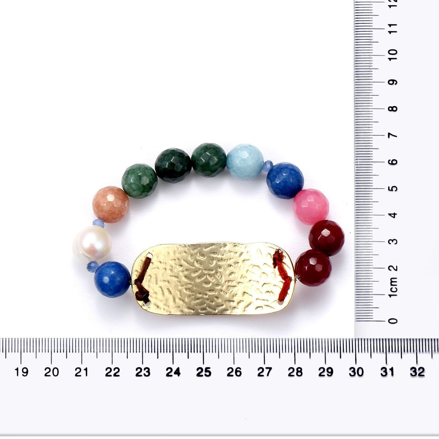 Vibrant Vibes Real Gemstone Beads Bracelet-Blinglane