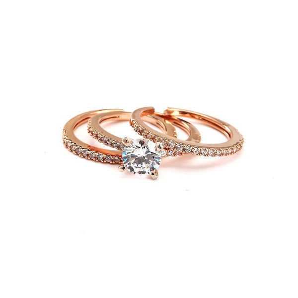 Whirlwind In My Mind CZ Stackable Ring Set-Blinglane