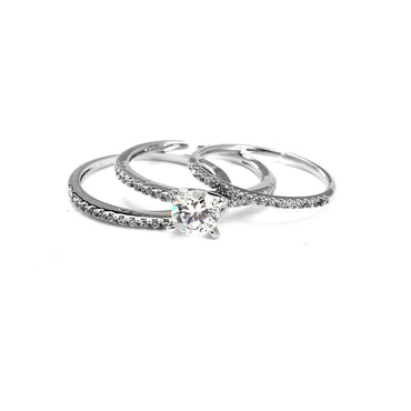 Whirlwind In My Mind CZ Stackable Rings-Blinglane