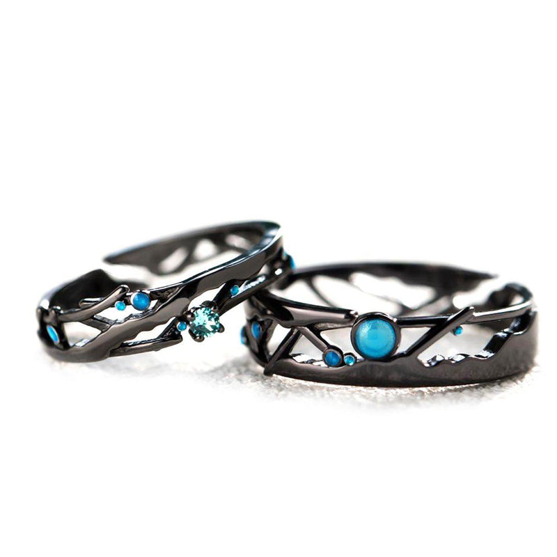 Will Shine Together like Stars in the Dark Sterling Silver Love Bands-Blinglane