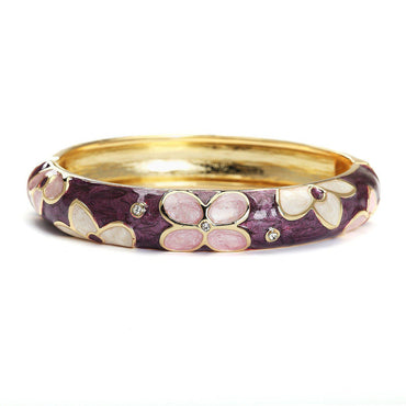 Wine Flora Metallic Fashion Bangle-Blinglane