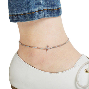 Your Initial F Anklet-Blinglane