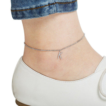 Your Initial K Anklet-Blinglane
