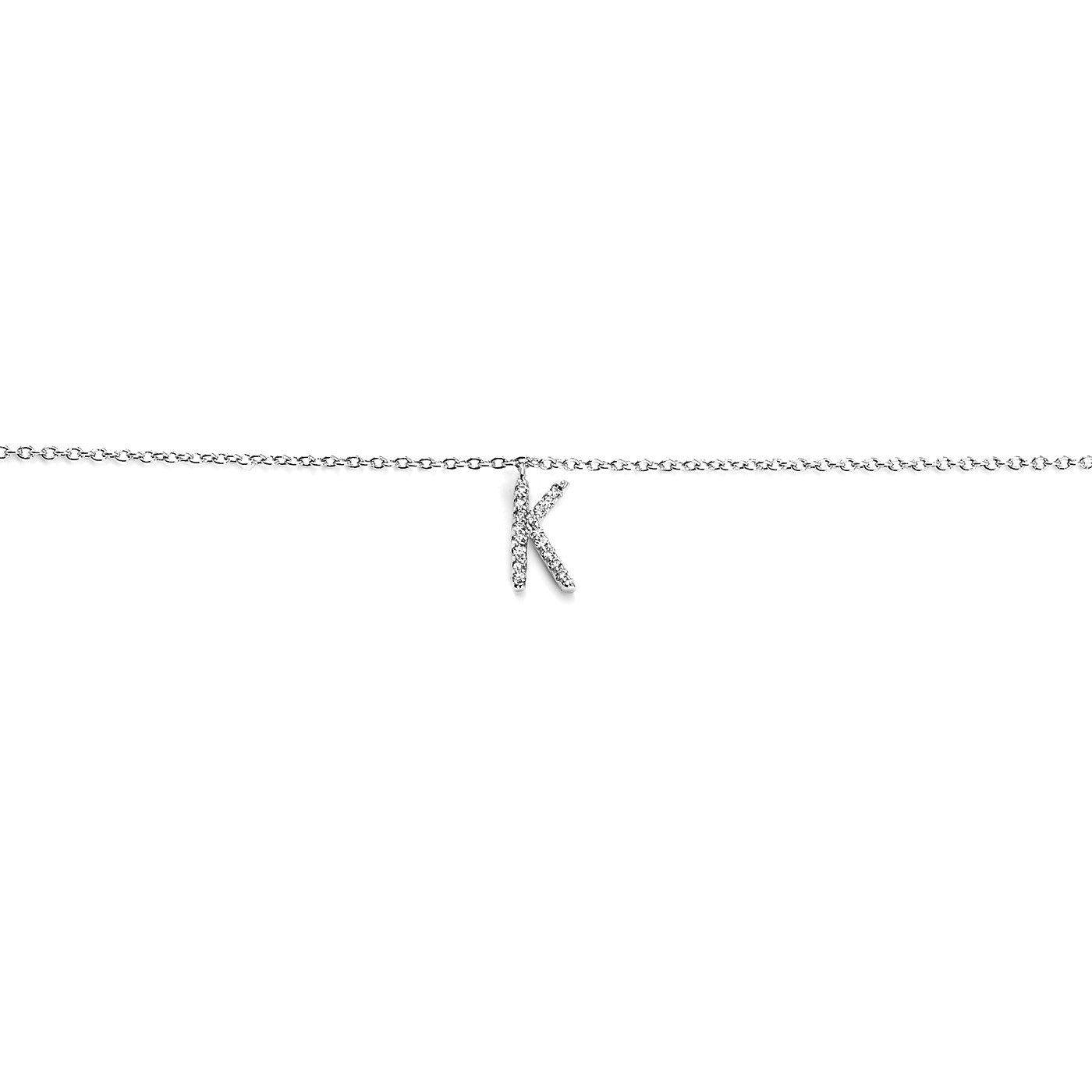Your initial K Bracelet-Blinglane