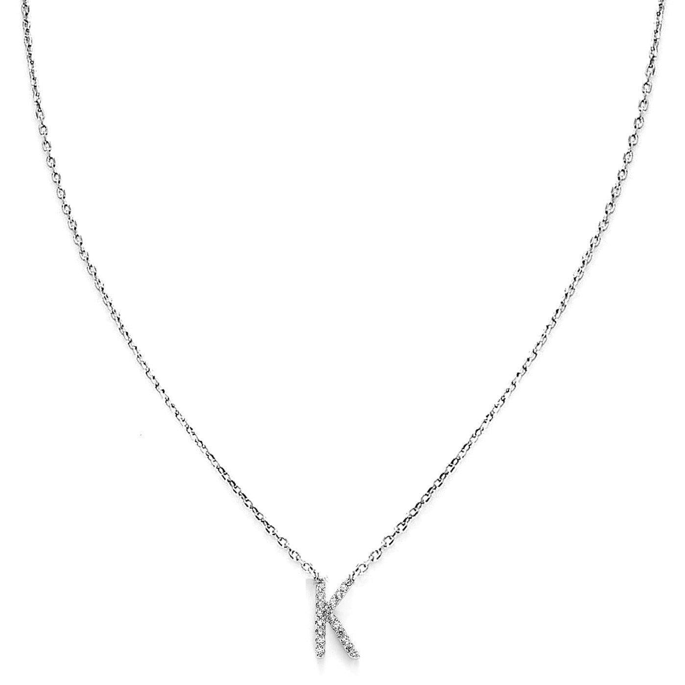 Your Initial K Necklace-Blinglane