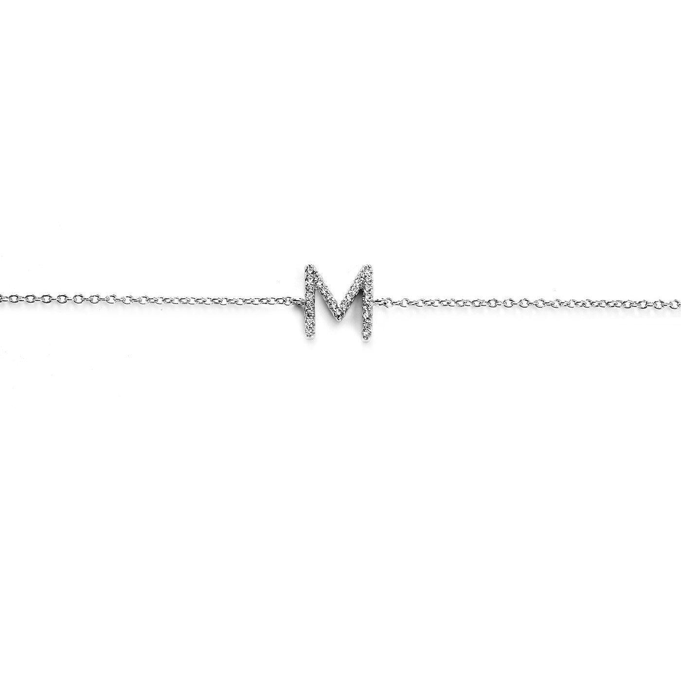 Your initial M Bracelet-Blinglane