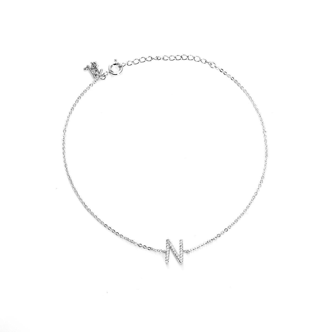 Your Initial N Anklet-Blinglane