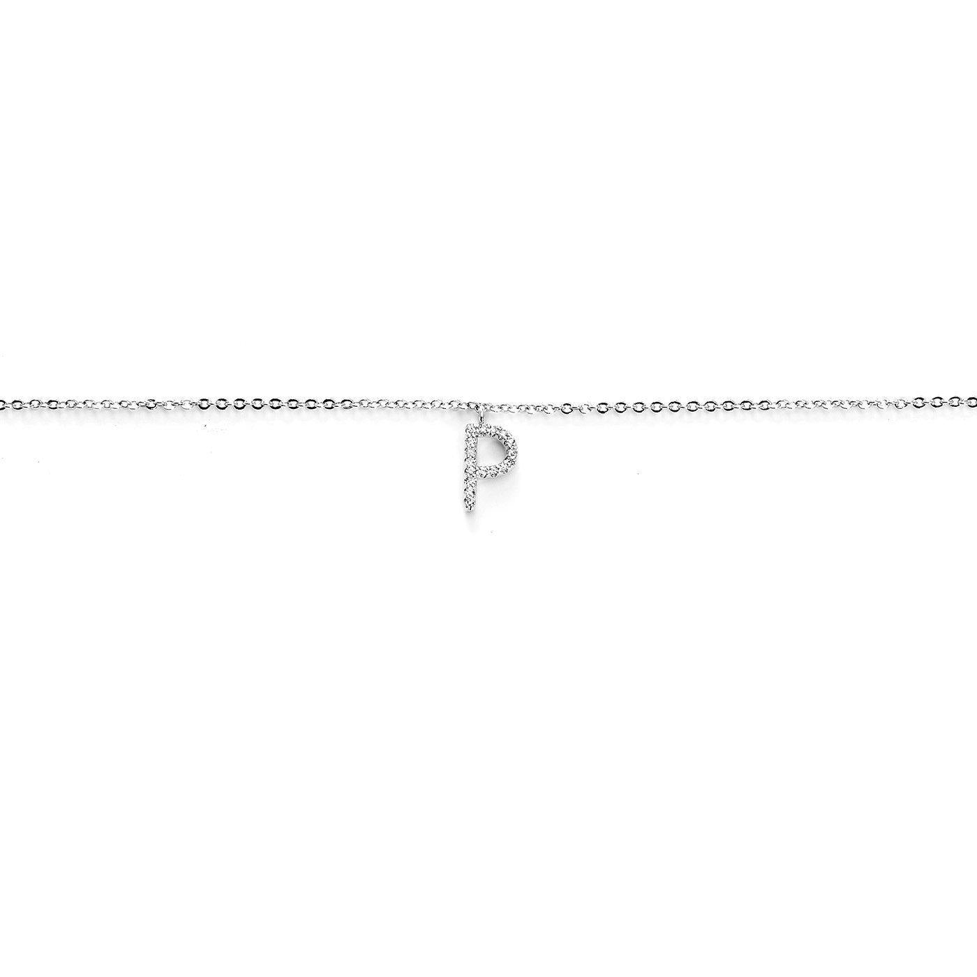 Your Initial P Anklet-Blinglane