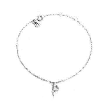 Your initial P Bracelet-Blinglane