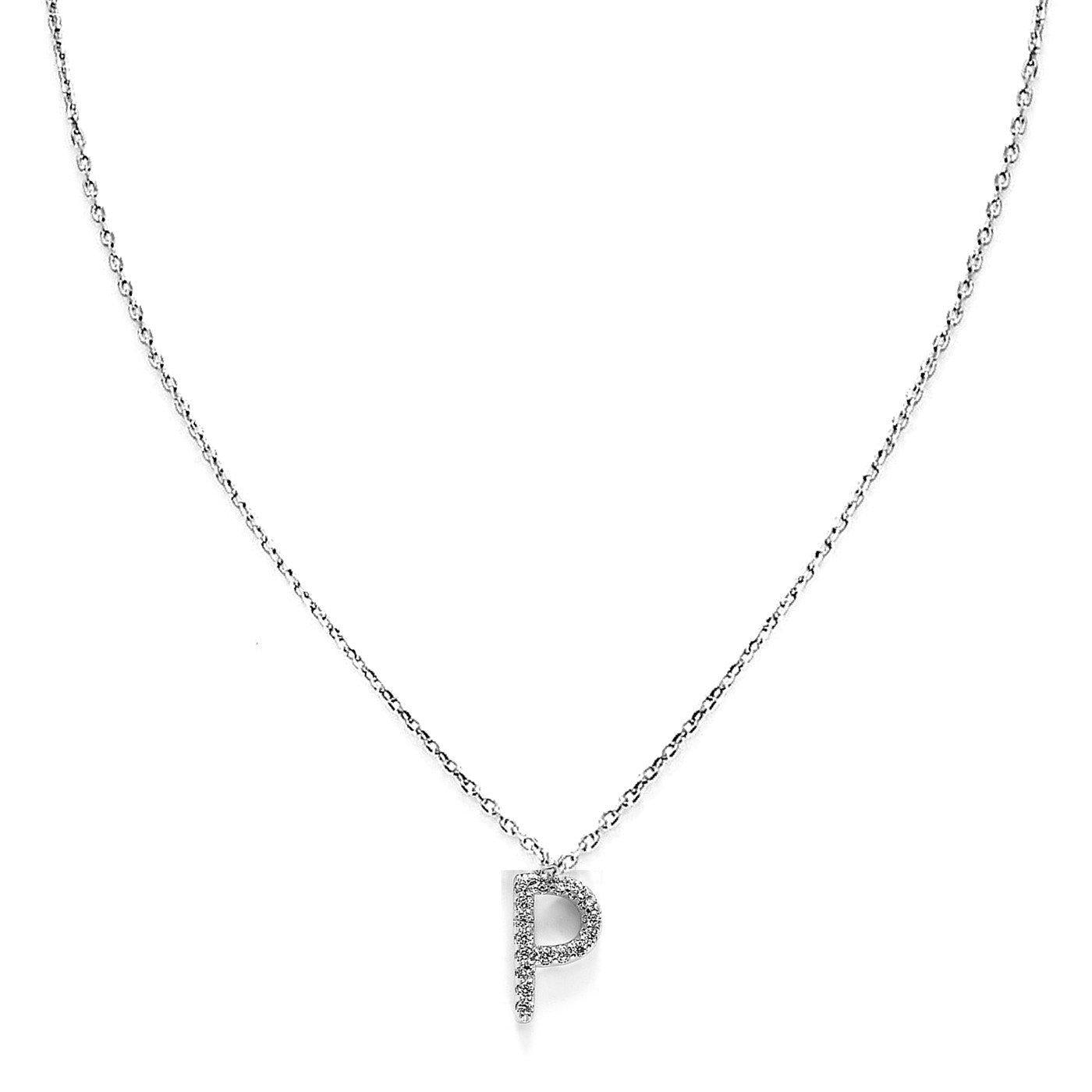 Your Initial P Necklace-Blinglane