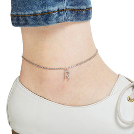 Your Initial R Anklet-Blinglane