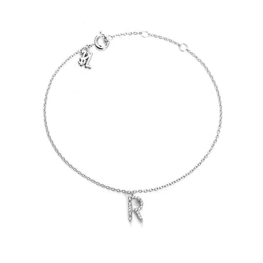 Your initial R Bracelet-Blinglane