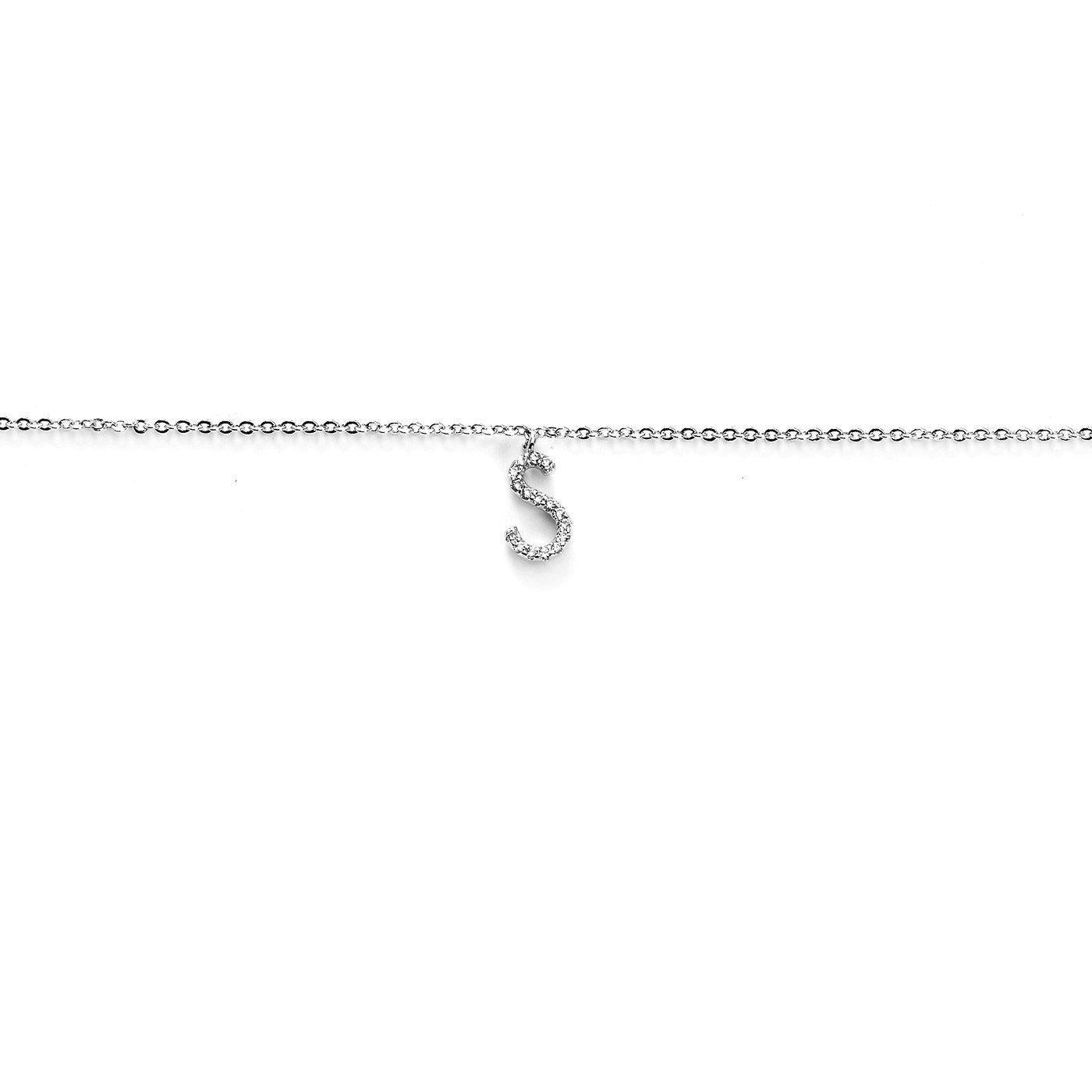 Your Initial S Anklet-Blinglane