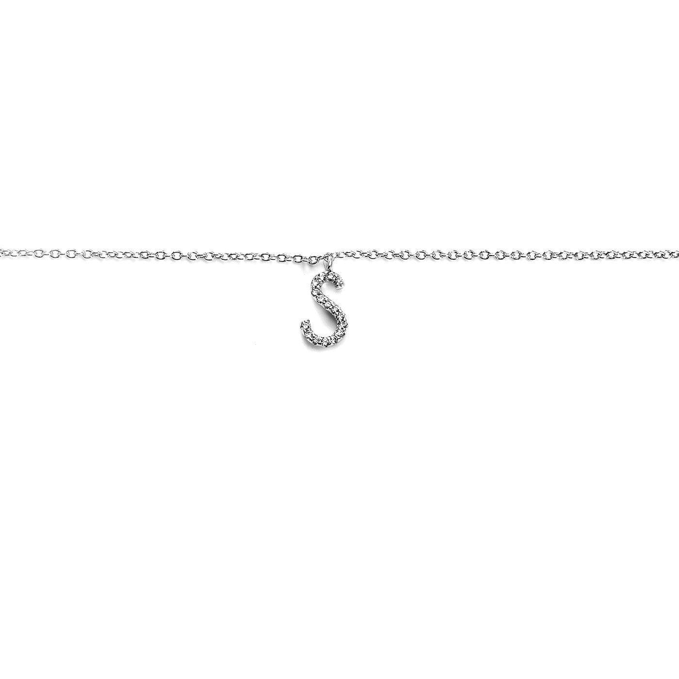 Your initial S Bracelet-Blinglane