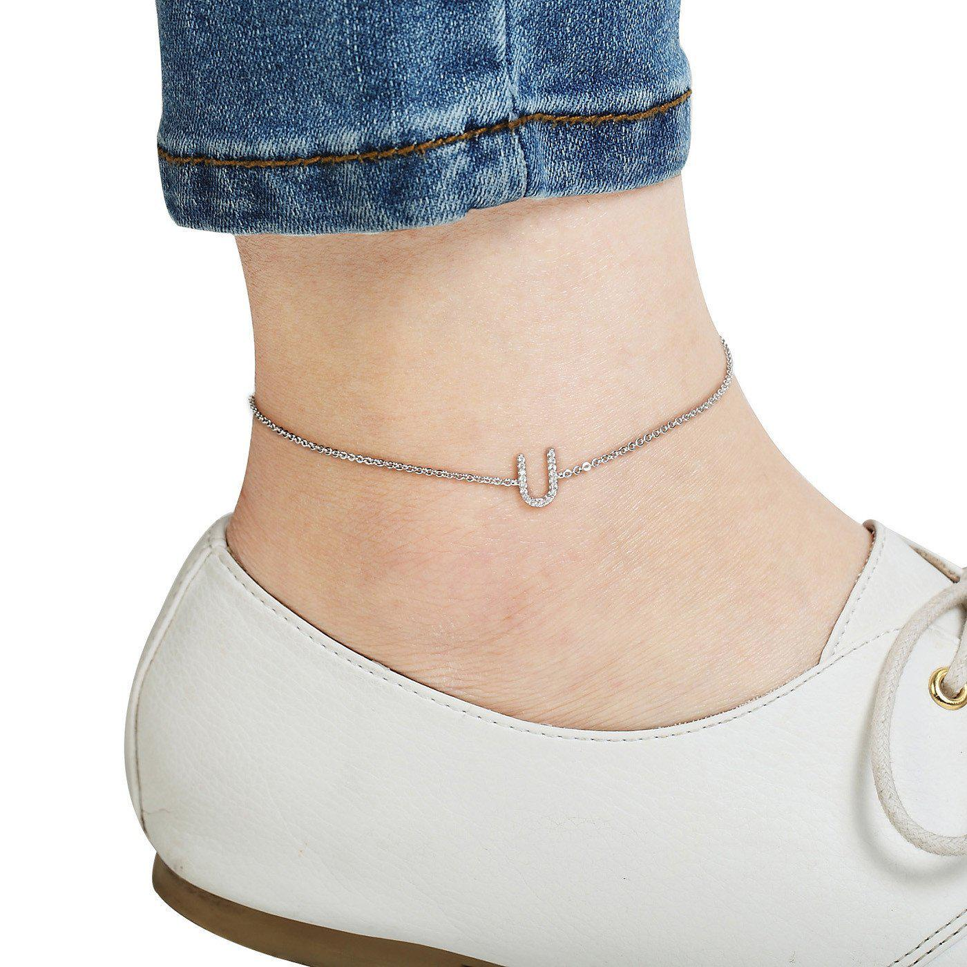 Your Initial U Anklet-Blinglane